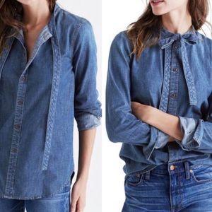 Madewell | Denim Button Down T-Shirt Size XS